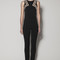 Oceana jumpsuit in black matt stretch with nude gazaar and black lace | safiyaa london