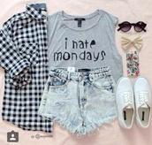 t-shirt,grey,muscle tee,cardigan,hair accessory,phone cover,shoes,shorts