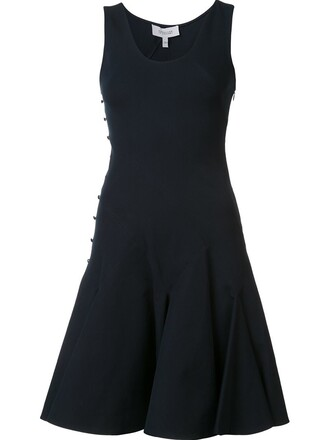 dress women spandex cotton black