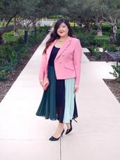curvy girl chic - plus size fashion and style blog,blogger,jacket,skirt,shoes,bag