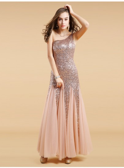 Jayle gold sequin evening dress