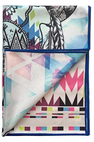 home accessory boho print vagabond goods yoga towel bikiniluxe