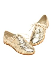 shoes,gold,flat