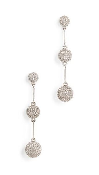 Kate Spade New York earrings clear silver jewels
