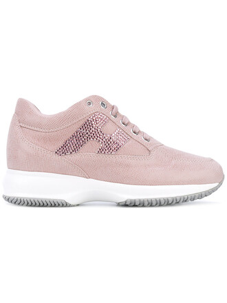 women embellished sneakers leather purple pink shoes
