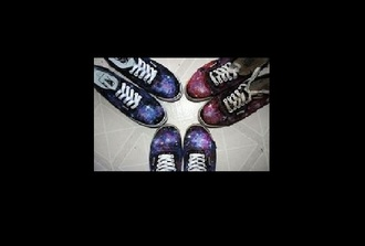 shoes galaxy print air world girl girlie vans idk style stylish mode styling bye.