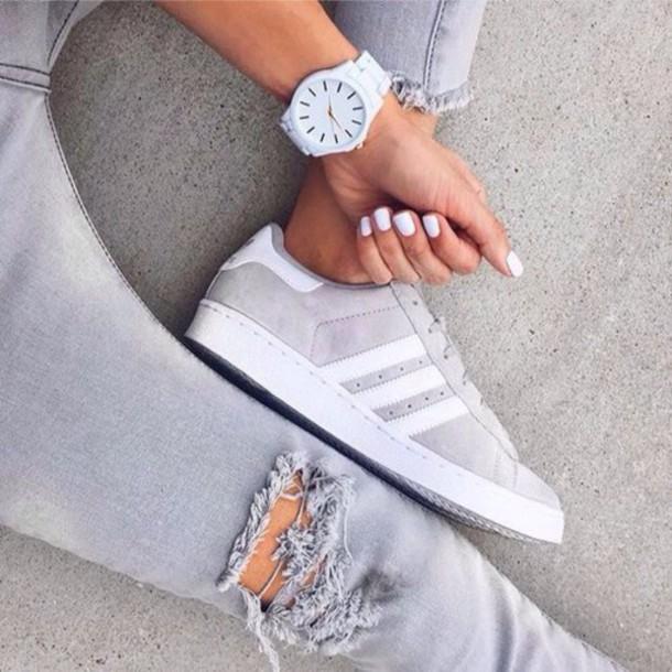 adidas superstar mens grey