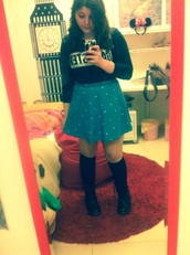 skirt,blue,bla