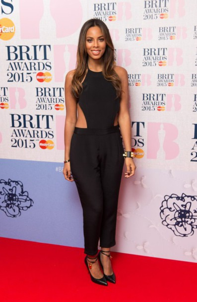 jumpsuit 2015 brit awards nominations rochelle humes pumps shoes tom ford