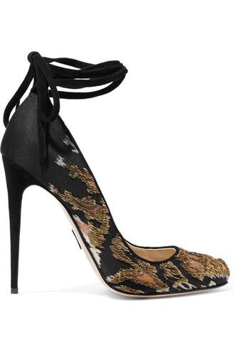 suede pumps embellished pumps suede black satin shoes