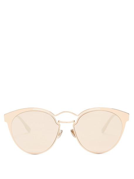 dior metal sunglasses gold