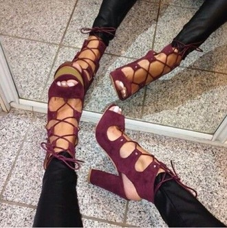 shoes lace up thick heel high heel sandals lace up heels burgundy shoes red heels strappy heels