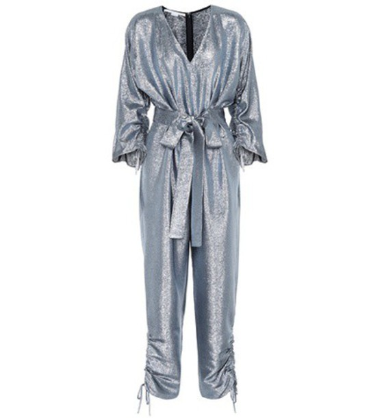 Stella McCartney jumpsuit metallic blue