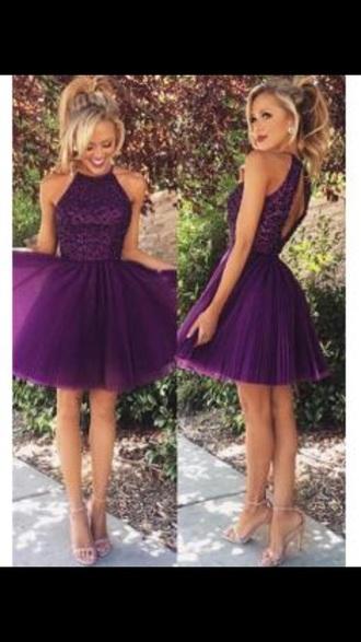 dress purple dress homecoming dress party dress