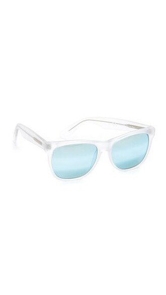 clear classic sunglasses blue
