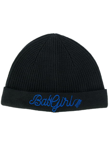 girl beanie black hat