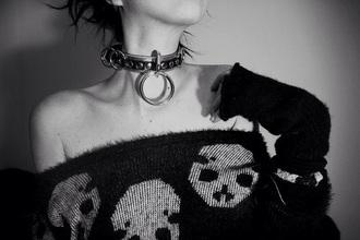 sweater skull grunge