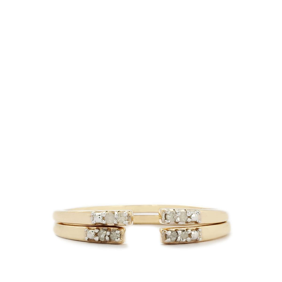 Arezzo D'oro 1/20ct Diamond 9K Gold Ring