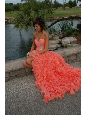 Buy Stunning Ball Gown Sweetheart High-low Asymmetrical Prom Dress  under 300-SinoAnt.com