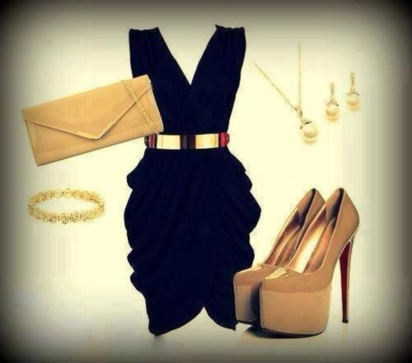 little black dress clutch dress