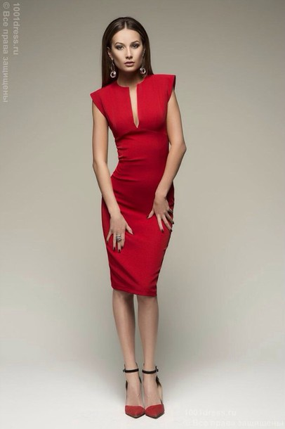 Dress Red Red Dress Bodycon Dress Party Dress Bodycon Sexy Party Dresses Sexy Sexy Dress ...