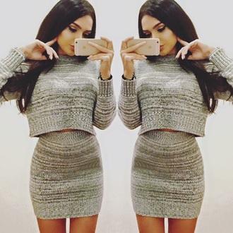 dress two-pieces dress grey comfy beautiful cute dress love brunette need money not friends black cute