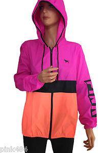 Secret Pink Anorak Windbreaker Jacket XS s Purple Pink Orange | eBay