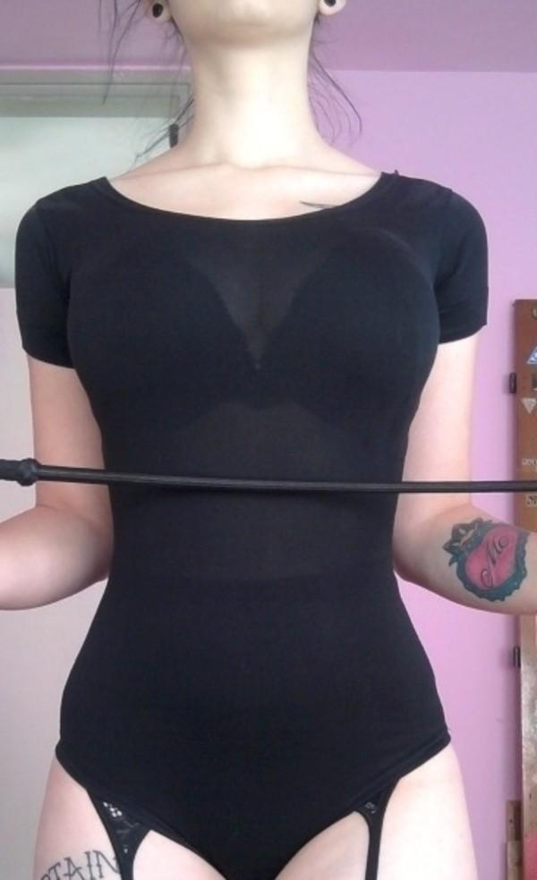 dress black clothes dance girl tattoo tumblr leotard