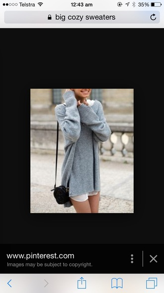 sweater jumper knitted sweater grey sweater