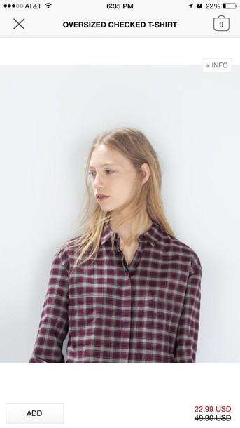 t-shirt plaid shirt checkered shirt