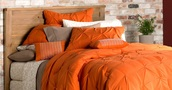 home accessory,orange bedding,bedding,bedroom,the comforter,orange