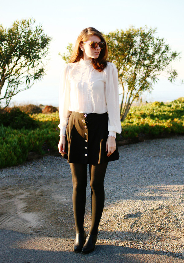these days blouse skirt shoes jewels sunglasses