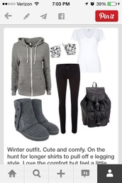 sweater,gray hoodie,skinny jeans,boots,outfit