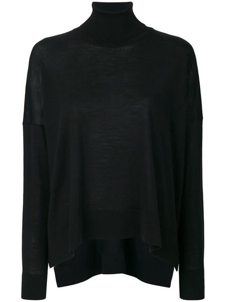 Roberto Collina top women black wool