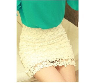 skirt retro floral high waisted white lace skirt high waisted shorts floral shorts