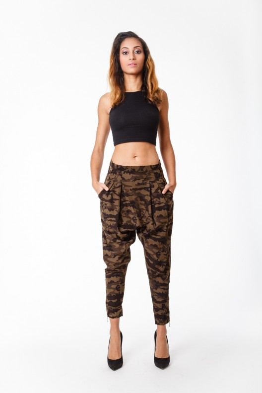 Camouflage Harem Pants - Fashionable Fits