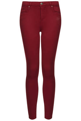 MOTO Red Leigh Jeans - Motocross - Clothing - Topshop