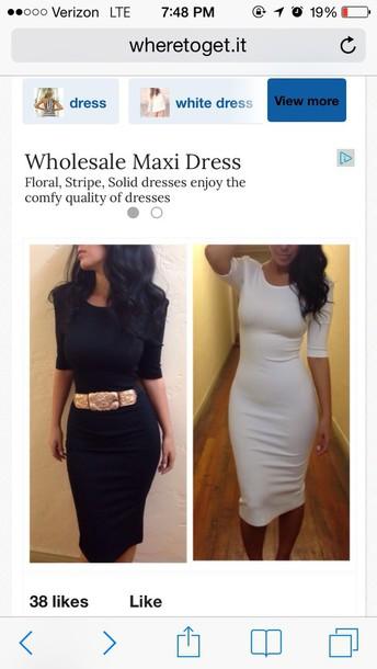 dress white midi dress