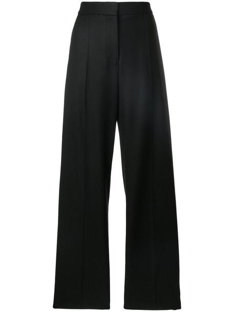 high women spandex black wool pants
