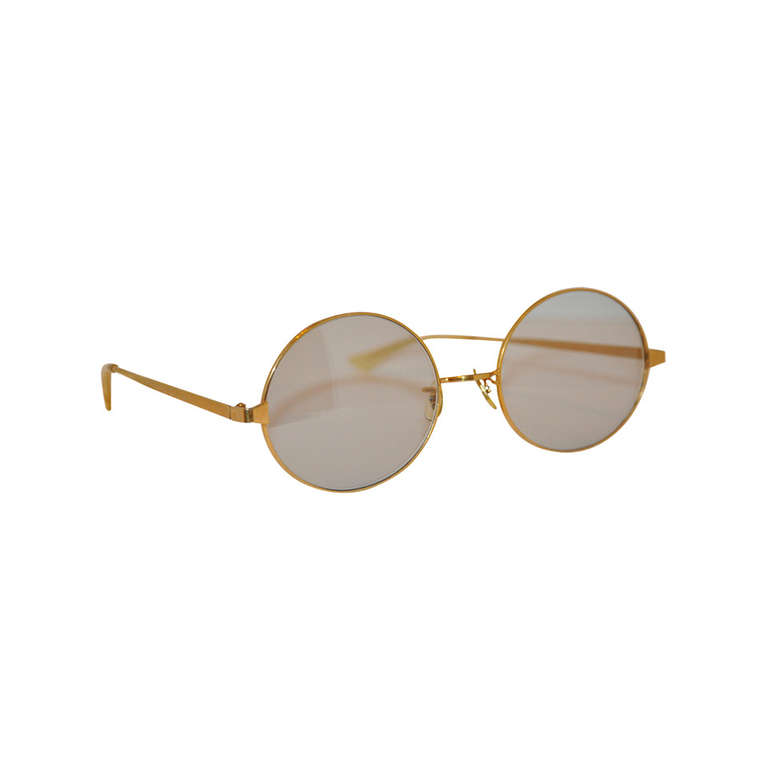 Gold-Filled Hardware Huge Round-Framed Glasses at 1stdibs