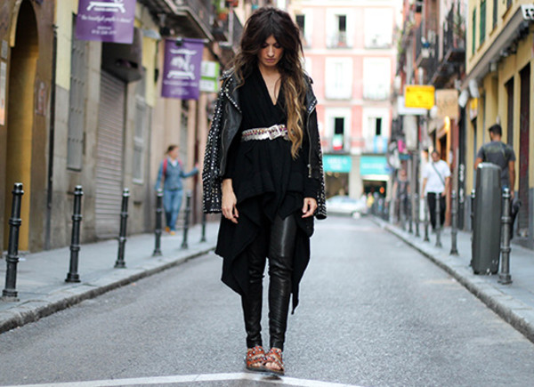 madame rosa blogger belt leather pants