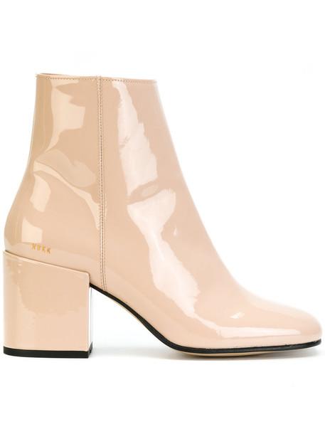 Nubikk women boots leather nude shoes