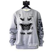 sweater,butterfly tattoos sweatshirt sweater jumper