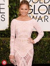 dress,chrissy teigen,model,celebrity style,couture dress