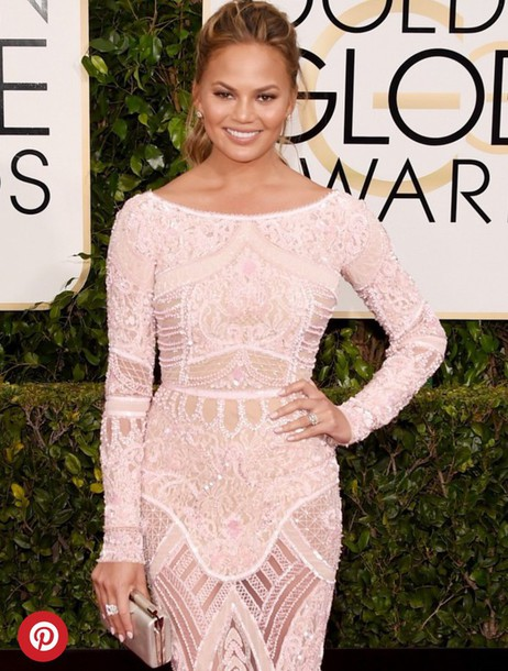 dress chrissy teigen model celebrity style couture dress