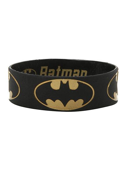 DC Comics Batman Gold Logo Rubber Bracelet | Hot Topic