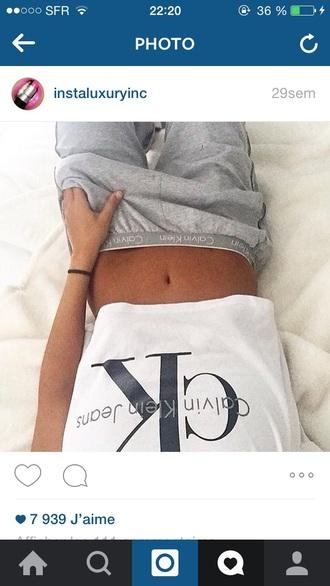 pants calvinklein t shirt print