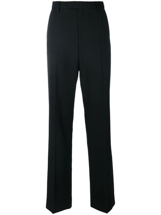 high women cotton black wool pants