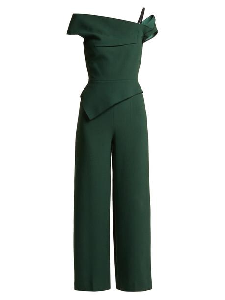 jumpsuit wool green