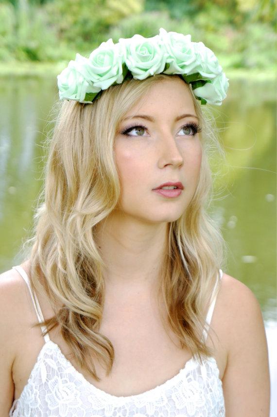 Halo, headband, bridal, wedding, floral wreath, flower girl, edc.